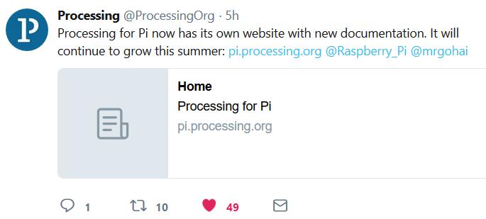 有树莓派的独立页面了! - 第1张  | Processing编程艺术